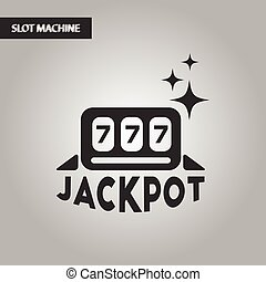 black and white style jackpot Lucky seven