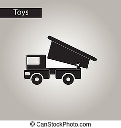 black and white style toy truck