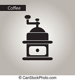 black and white style coffee grinder