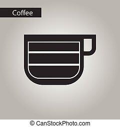 black and white style cup latte macchiato - black and white...