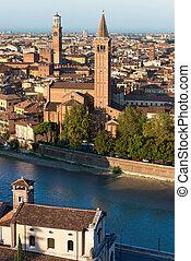 Aerial View of Verona - Veneto Italy - Aerial view of Verona...