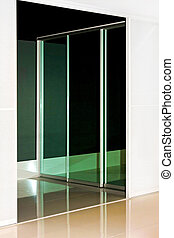 Big wardrobe - Mirrored wardrobe sliding door with...