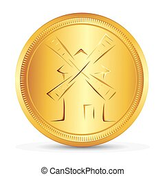 The gold coin - Gold coin with the image of the symbolic...