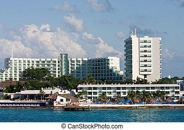 White Luxury Condos on Cozumel Coast