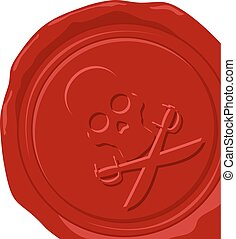pirate wax seal vector