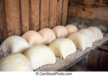 Production of homemade goat cheese - Production of homemade...