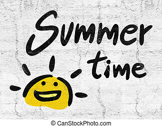 summer time icon - Creative design of summer time icon