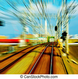railroad : a track or set of tracks made of steel rails along which passenger and freight trains run.