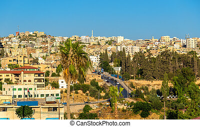 View on the modern city of Jerash