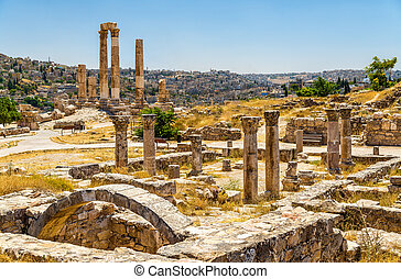 Ruins of the Byzantine Church at Amman Citadel in Jordan