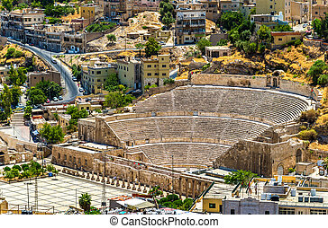 View on Roman Theater in Amman - Jordan