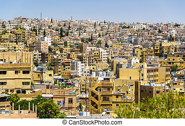Cityscape of Amman, Jordan - Cityscape of Amman, the capital...