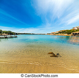 golden shore in Porto Cervo, Sardinia