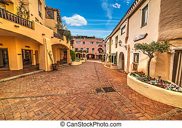 glimpse of Porto Cervo - world famous Piazzetta in Porto...