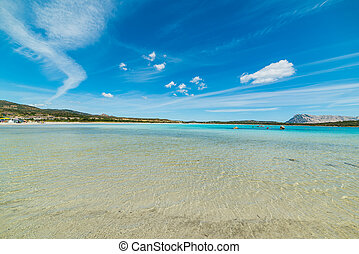 white clouds over Lu Impostu beach, Sardinia