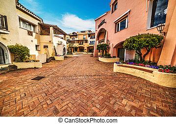buildings in Porto Cervo, Sardinia