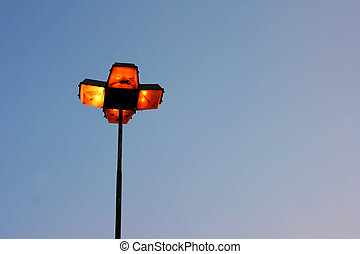 Streetlight - A Streetlight in the dusk.