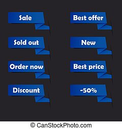 Blue sale tags for website