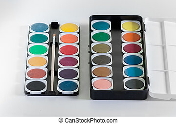 Watercolor palette