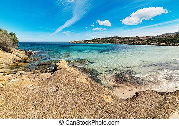 cala granu beach in Costa Smeralda, Italy