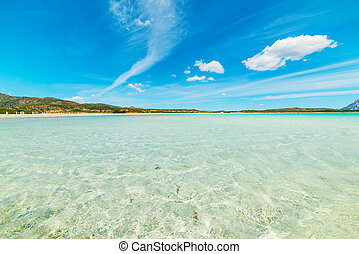 blue sky over Lu Impostu beach, Sardinia