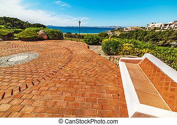 small square in Cala del Faro, Sardinia