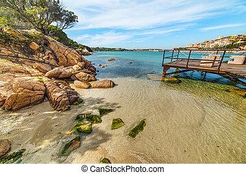 small beach in Porto Cervo, Sardinia