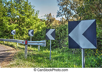 sign on a country road