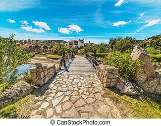 walk path in Porto Cervo, Sardinia