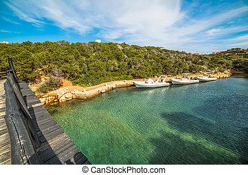 boats moored in Porto Cervo, Sardinia