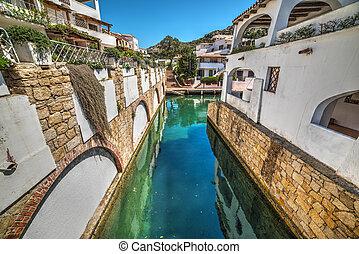 small canal in Poltu Quatu, Sardinia