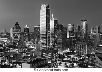 Dallas downtown view shot from reunion tower - Dallas City...