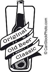 vintage craft beer - Vector set of vintage craft beer,...