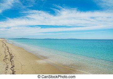 Fiume Santo beach on a cloudy day, Sardinia