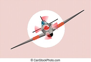 Diving Fighter Plane - A fighter plane diving out of the sun...