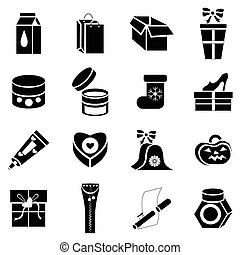 Packaging icons set, simple style - icons set in simple...