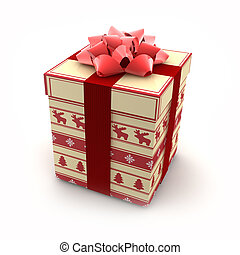 3D - Christmas Gift Boxes 4 - Christmas decorative gift box...