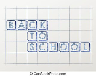 back to school on whiteboard, vec - back to school on...