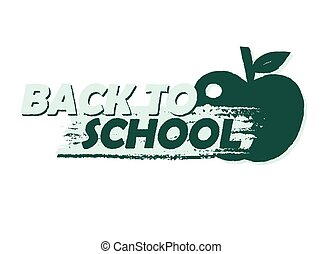 back to school with apple, banner v - back to school text...