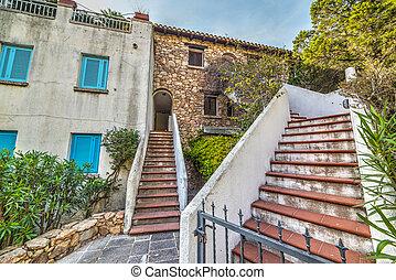 stairs in Porto Rotondo, Sardinia