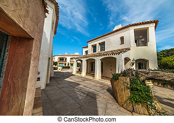 buildings in Porto Cervo, Sardinia