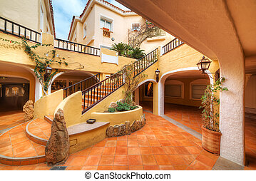 colorful stairs in Porto Cervo, Sardinia