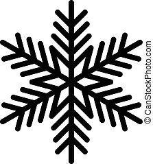 Cold Winter Snowflake vector icon