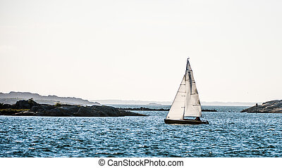Archipelago - A sailing canoe in the west coast archipelago...
