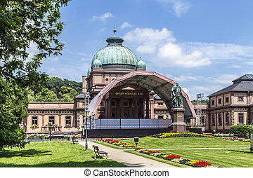famous Kaiser Wilhelm public bath in the park in Bad Homburg