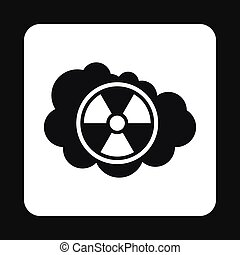 Radioactive air icon, simple style - Radioactive air icon in...
