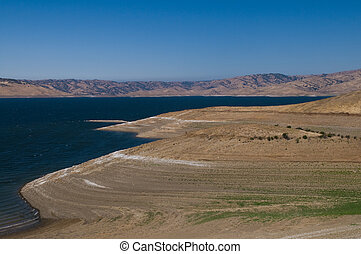 San Luis Reservoir near Los Banos, California