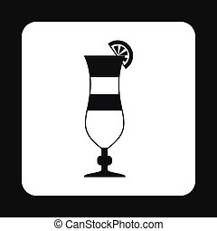 Fruit cocktail icon, simple style