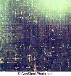 Grunge background or texture with vintage frame design and...