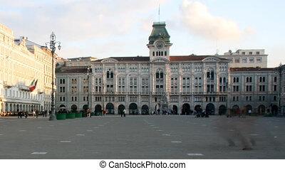 Piazza Unita, Trieste, Italy - Time lapse